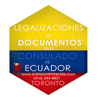 Legalizations at the consulate of Ecuador